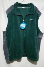 Mens Columbia green gray zipper fleece vest 6Xl New