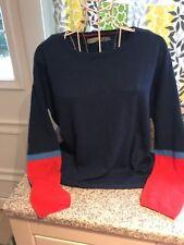 Seasalt Cornwall Deluxe géneros de punto suéter señoras tamaño 10 Merino/Alpaca Mezcla de tinta BL