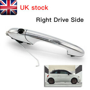 Genuine Fiat 500 Offside Right Driver Side Chrome Outer Door Handle 735592012 UK