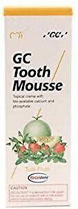 GC Tooth Mousse Teeth Remineralising Cream Strengthens Enamel -Tutti-Frutti 35ml