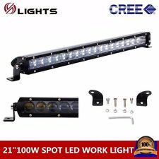 4D+ 21inch 100W LED Light Bar Single Row Spot OffRoad Driving UTE Ford Slim Boat