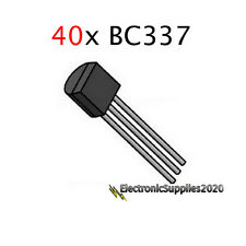 40x BC337-40 NPN Transistor (TO-92) BC337 - General Purpose-USA Fast Shipping