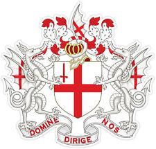 Londra London Londres coat of arms stemma etichetta sticker 15cm x 15cm