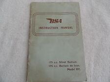 BSA Motorcycle Owners Manual 175 cc Silver Bantam / De Luxe Model D7