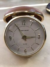 Vintage Phiney-Walker travel Alarm Clock with Flip Up Case