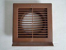 Lüftungsgitter (braun) für Abluftrohr mit 150 mm Durchmesser - unbenutzt
