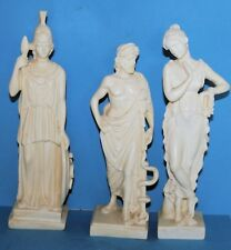 Three Romo-Greek Figurines Asklipios (Medicine), Aohna (Wisdom) & Maiden.  24cm