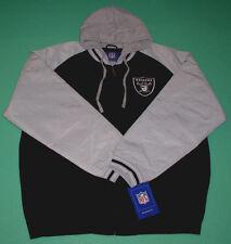 NFL OAKLAND RAIDERS JACKET BLACK GRAY XL