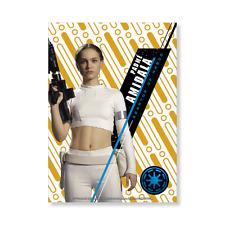 1/1 Padme Amidala  2016 Star Wars High Tek Base Cards Gold Wall Art Poster  #1/1