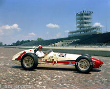 A.J. FOYT 1961 INDIANAPOLIS INDY 500 WINNER TREVIS OFFY 8x10 PHOTO