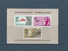 Togo bloc   monuments de Nubie   de 1964    num:  11   **