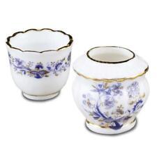 Dollhouse Pair Blue Onion Flower or Cache Pots 1.651/5 Reutter Miniature