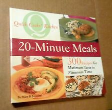 2004! 20-Minute Meals! 300 Great Recipes! Spiral Binder Pages! VG Cond! A+NR!
