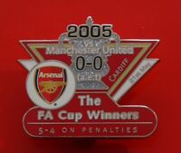 Danbury Victory Enamel Pin Badge Arsenal FC Football Club FA Cup Winners 2005