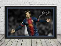 Lionel Messi Signed Photo Print Poster Autographed Football Memorabilia