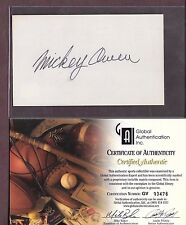 3X5 INDEX CARD AUTOGRAPH MICKEY OWEN GAI CERTIFIED!