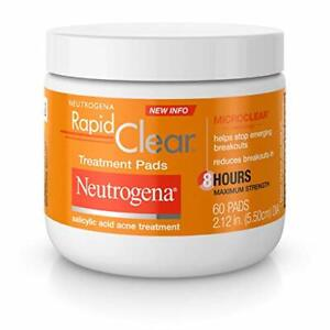 Neutrogena Rapid Clear Acne Face Pads with Salicylic Acid Acne Treatment...