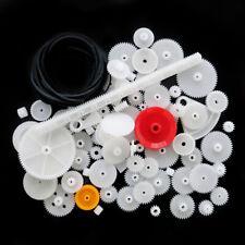 81pcs/set Assorted Teeth Plastic Gear Wheel For Toy Car Motor Shaft Model Craft