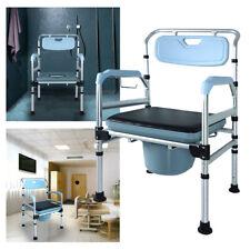 Toilettenstuhl Verstellbar Toilettenhilfe Feststehend Dusch Stuhl + Rückenlehne