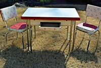 Porcelain Enamel Kitchen Table Metal Legs Art Deco w/ Matching Gate City Atlanta