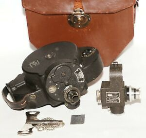 1926 Vintage Bell & Howell Co. 16mm Filmo 70A movie camera, case, key Exc. +++