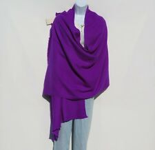 100% Cashmere|Shawl|4 Ply|Hand Loomed|Nepal|Wide Herringbone|Violet