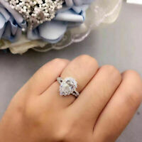 2.50 Carat Pear cut Diamond 14K White Gold Over Halo Engagement Wedding Ring