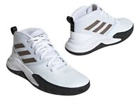 Adidas OWNTHEGAME K WIDE EF0310 Bianco Scarpe da Ginnastica Bambini Comode
