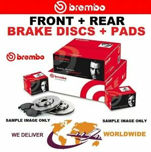 BREMBO Drilled FRONT + REAR DISCS + PADS for PEUGEOT 207 1.6 16V VTi 2007-2012