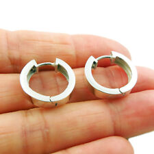Huggie 925 Silver Circle Hoop Earrings in a Gift Box