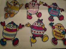 Easter Eggs Corrugate Cardboard Decorations 6 Pieces