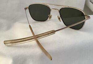 Vintage AO American Optical 12K GF 5 1/2 GOLD VINTAGE AVIATOR  SUNGLASSES