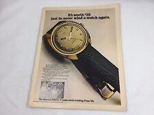 1972 Timex Electric Watch Ad Print Advertisement 21058 Wrist Wristwatch