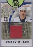 Chris Chelios 2011 ITG Canada Vs The World International Material Jersey Card
