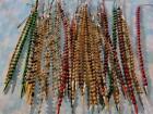 Lot 36 Antique Vintage Mercury Glass Bead Christmas Icicles Picks Spikes Decor