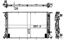 HELLA Radiador, refrigeración del motor AUDI A4 Q5 A5 FAW-AUDI 8MK 376 745-631