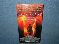 BACKDRAFT VHS - KURT RUSSELL - WILLIAM BALDWIN - NEW SEALED