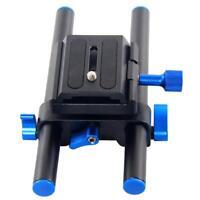 "15mm Rail Rod Support System DSLR Camera Mount 1/4"" Screw DSLR Follow Focus Rig"