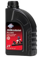 Silkolene Pro KR 2 Castor Ester Base Kart Racing 2 Stroke Engine Oil 1 Litre