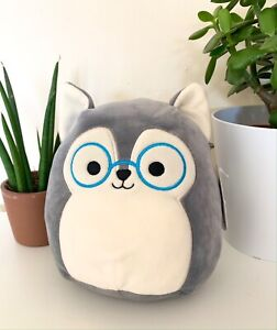 BNWT Ryan the Husky Dog with Glasses Squishmallow Toy 8""