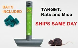 3x RAT MOUSE MICE RODENTS TOP LOAD TUBE BAIT STATION Lockable Tamper Proof Trap