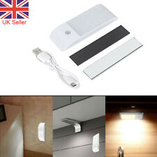 Motion Sensor Lights PIR Wireless Night Lights USB Cabinet Stair 12LED Lamp UK