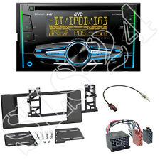 JVC KW-DB92BT 2-DIN CD/USB Radio + 5er BMW (E39) Radioblende black + 17-Rundpin