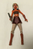 Star Wars The Clone Wars Animated Ahsoka Tano w/ Lightsaber Hilt Action Figure