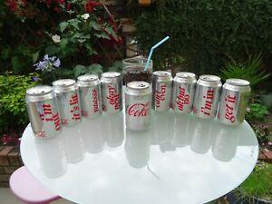2019 Limited Edition Diet Coke cans, complete set of 8 plus 1, empty, no coke