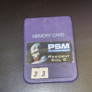 Resident Evil 2 PSM PlayStation Magazine Memory Card **READ**
