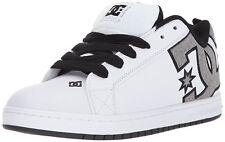 DC Mens Court Graffik SE Skate Shoe, White/Heather Grey, 10.5D D US