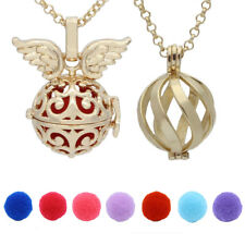 2pcs Gold Mix Wing Pendant Aromatherapy Essential Oil Diffuser Locket Necklace
