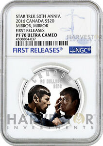 2016 SILVER STAR TREK - MIRROR, MIRROR - SPOCK MCCOY - NGC PF70 FIRST RELEASES