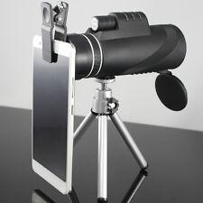 40x60 Zoomable binocular HD Optic Monocular Telescopes W/Clip  Tripod